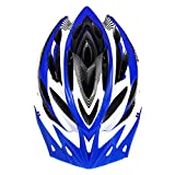 WOLFBIKE Unicase Bicycle Cycling PVC Helmet BMX MTB Off Road Safety Helmet Superlight (Blue)