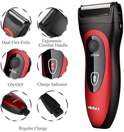 Afeitadora Eléctrica Rotativa Recortador de Barba para Hombres Uso ...