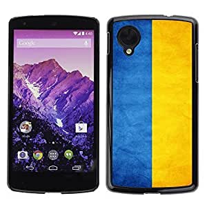 Shell-Star ( National Flag Series-Ukraine ) Snap On Hard Protective Case For LG Google NEXUS 5 / E980