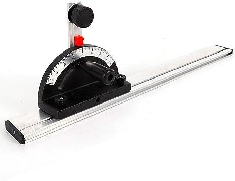 Sierra de mesa de aleación de aluminio con regla de ángulo especial, medidor de inglete, guía de inglete para carpintería: Amazon.es: Bricolaje y herramientas