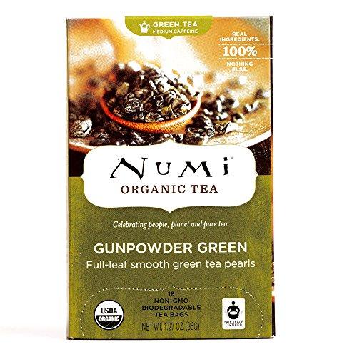 Numi Organic Gunpowder Green Tea 18 Count Box (1 Item Per Order)