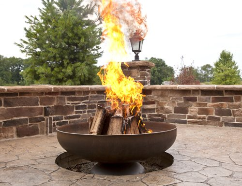 Ohio Flame 42in. Diameter Fire Pit in Natural Steel Finish For Sale