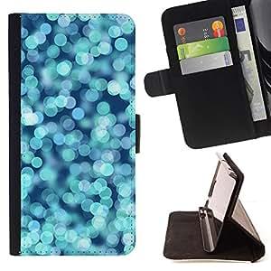 """For Sony Xperia Z5 (5.2 Inch) / Xperia Z5 Dual (Not for Z5 Premium 5.5 Inch),S-type Agua Glitter Blue Ocean Surf Verano"""" - Dibujo PU billetera de cuero Funda Case Caso de la piel de la bolsa protectora"""