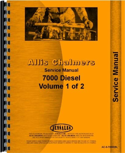 Allis Chalmers 7000 Tractor Service Manual All Serial #s Tractors ...