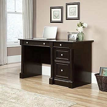 Amazon Com Sauder Edge Water Computer Desk Estate Black