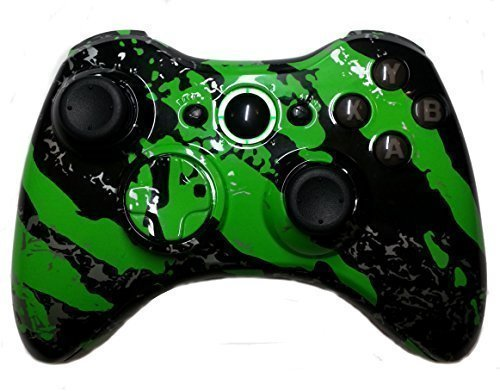 Xbox 360 Green Hydro Dipped / Modded Rapid Fire Controller / Sniper Quick Scope / Drop Shot / Quick Aim / Auto Aim / Mimic / Burst / For COD / Modern Warfare / Black Ops / Gears of War / All Games