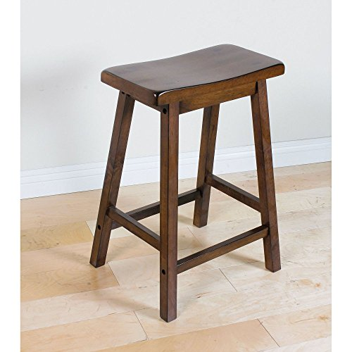 Wood Walnut Finish Bar (Set of 2 Acme 07304 Gaucho Stool, Walnut Finish, 24-Inch)