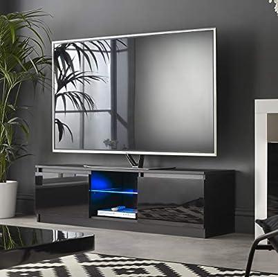 MMT RTV 1200 - Mueble de TV con Luces LED Azules para TV de 40 49 ...