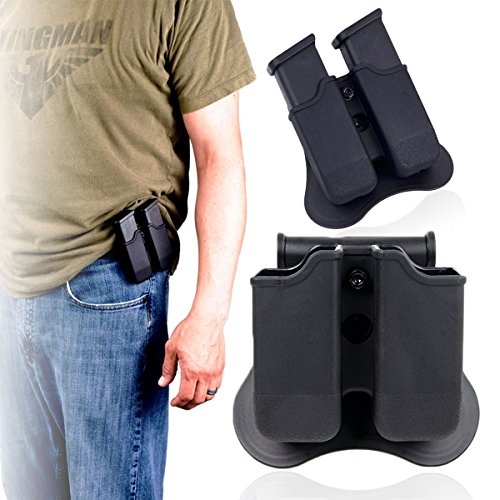 Glock Magazine Holder 9mm Magazine Holster The Ultimate Double Stack Glock Mag Holder with Paddle 9mm and .40 Caliber Magazine (Best Holster With Double Magazines)