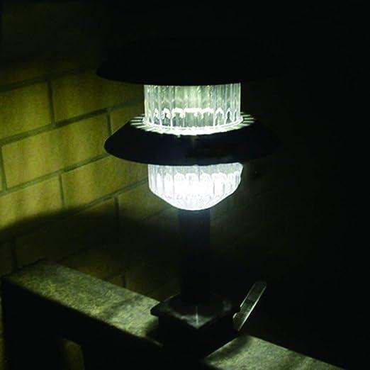 DJSDFHB Luz de barandilla Solar LED, Exterior Impermeable Cerca Valla Escalera luz Villa jardín Patio balcón Paisaje Luces (Dos): Amazon.es: Hogar