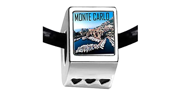 GiftJewelryShop Silver Plated Monte Carlo Photo I Love You Charm Beads Bracelets