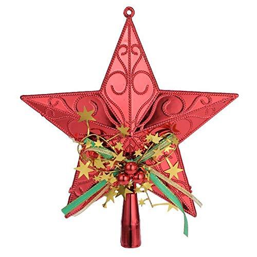 MICHAELA BLAKE 20cm en Plastique darbre de No/ël /étoile Topper Scintillant Arbre de No/ël Hanging D/écorations pour la Maison Festival Party Party Supplies D/écoration
