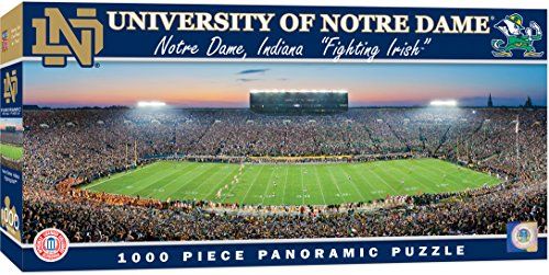 Dame Notre Game - MasterPieces Collegiate Notre Dame Fighting Irish 1000 Piece Stadium Panoramic Jigsaw Puzzle