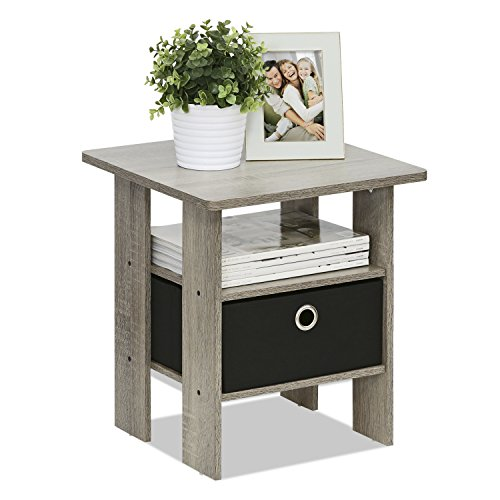 color of bedroom furinno 11157gyw bk end table bedroom stand w bin 11157