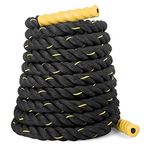 SportPlus Premium training- en sporttouw voor crossfit, uithoudingsvermogen en spieropbouw, slangenlijn, lengte 9/12/15…