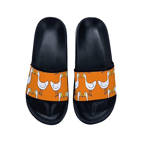 Simple Mesllings Slippers Fashion Print Sandals Flip Causal Flops Orange Shoes Ducks Sandal Women Nonslip nCwq68pxgq