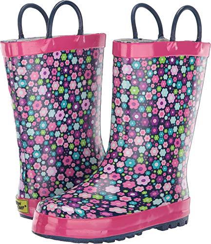 (Western Chief Boys Kid's Waterproof Printed Rain Boot, Blossom Blast, 9/10 M US Toddler)