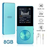 Mp3 Player Widon 8GB Mp4 Music Player Built-in Speaker HiFi Shuffle A-B Playback