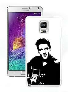 New Fashion Custom Designed Cover Case For Samsung Galaxy Note 4 N910A N910T N910P N910V N910R4 With Elvis Presley White Phone Case