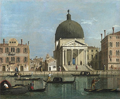 Prima Piccolo Wallet - The High Quality Polyster Canvas Of Oil Painting 'Follower Of Canaletto Venice S. Simeone Piccolo ' ,size: 24 X 29 Inch / 61 X 74 Cm ,this Beautiful Art Decorative Prints On Canvas Is Fit For Foyer Gallery Art And Home Gallery Art And Gifts