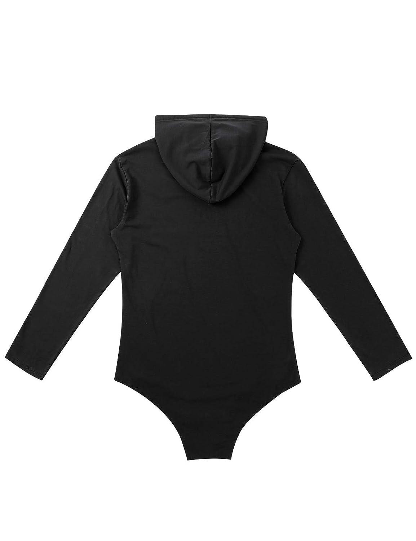 YiZYiF Herren Overall Langarm Body mit Kapuze Baumwolle Einteiler Bodysuit Druckkn/öpfen im Schritt M/ännerbody T-Shirt Unterhemd Sportbody M-2XL