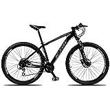 Bicicleta Aro 29 KSW XLT 24v Câmbios Shimano Acera RD-360 Freio a Disco Hidráulico com Suspensão