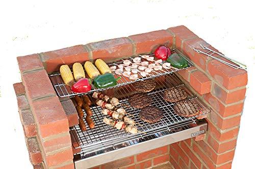 Black Knight Barbecues BKB 502 67 x 39 cm Deluxe - Kit de barbacoa de acero inoxidable: Amazon.es: Jardín