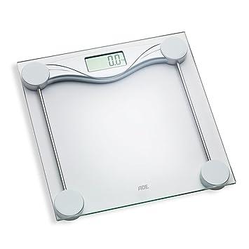 ADE Báscula de baño digital BE1510 Olivia, electrónica en cristal con superficie de seguridad,