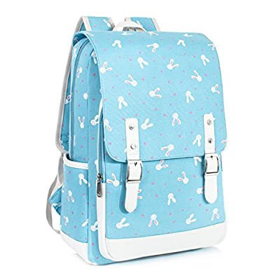 d7b158e45906 Leaper Cute Laptop Backpack for Kids Canvas Backpack Girls Daypack ...