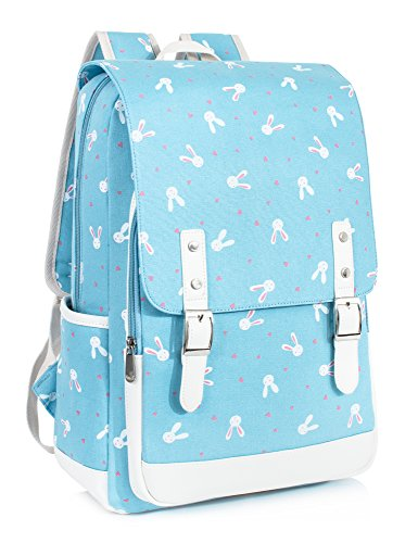 Leaper Cute Bunny Backpack for Women Laptop Backpack Rabbit Bag School Bag (Blue (Bunny Backpack)