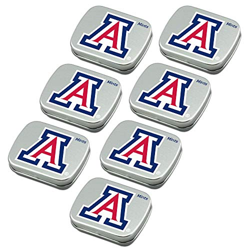 Worthy Promo NCAA Arizona Wildcats Party Favors Sugar-Free Peppermint Candy Mint Tins