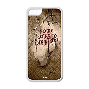 Novel Style American Horror Story Printed Case Cover for iphone 5c -Soft TPU Back Designer Case Protector White 022705