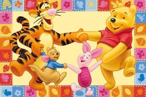 ToyOne Tapis pour enfant dans un motif Disney Winnie l'ourson & ses amis 170x100cm