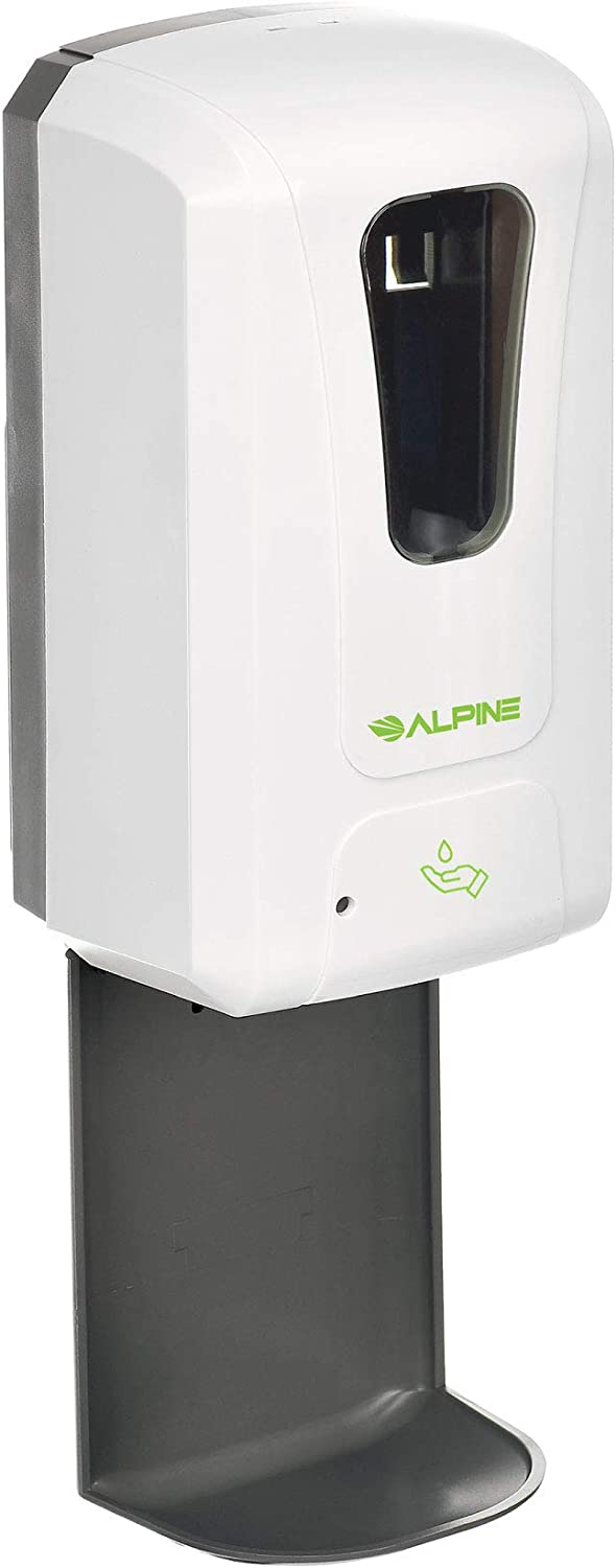Alpine Industries Automatic Soap Dispenser - Touchless Hand Sanitizer Liquid/Gel Dispenser with Drip Tray - Ideal for Restaurant, Hospital, School, Hotel, Kitchen and Bathroom-1200mL (Liquid)