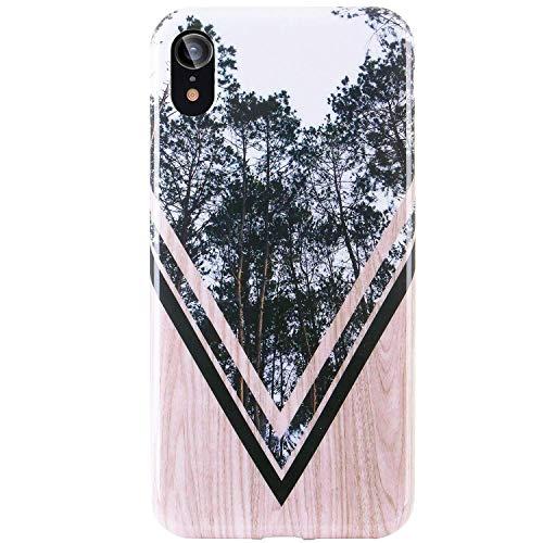 [해외]DICHEER 아이폰 XR CaseCute 나무와 숲 디자인 남성 여성 여자를 위한 범퍼 광택 TPU 실리콘 고무 소프트 커버 안티 스크래치 보호 전화 케이스 아이폰 XR 6.1 \\ / DICHEER iPhone XR CaseCute Wood and Forest Design for Men Women GirlsClear Bum...