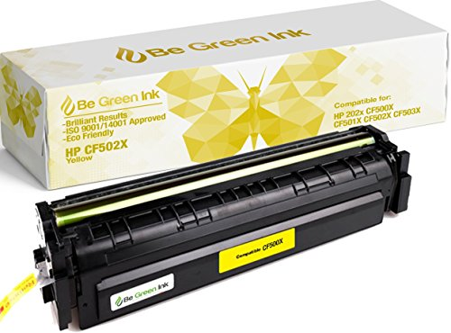 Be Green Ink Compatible Yellow Toner for HP CF502X 202X MFP M281fdw M254dw Laserjet Pro MFP M281cdw M281fdn M254nw M254dn M280 (Yellow 3,200 Yield) - 3200 Laser Printer