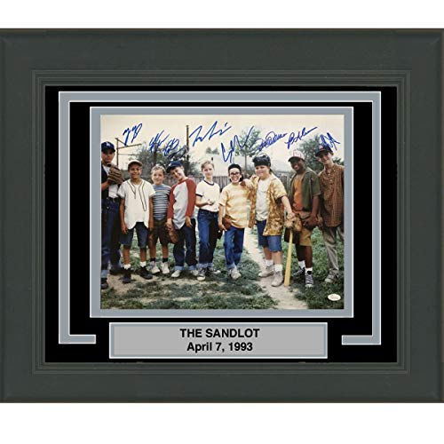 Framed Autographed/Signed The Sandlot Movie 8x Cast Member Sigs 16x20 Baseball Photo JSA COA