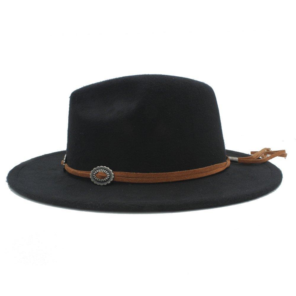 Yaojiaju Panama Fedora Hat with Suede for Women Women Men