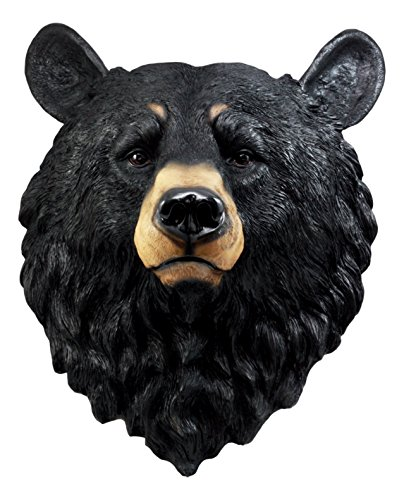 Ebros Gift Large Olympic Black Bear Head Wall Decor Plaque 16