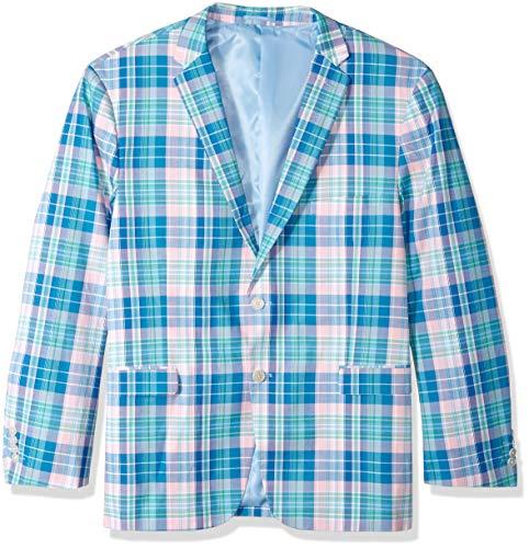 U.S. Polo Assn. Men's Big and Tall Fancy Cotton Sport Coat, Soft Tartan Multi Pastel Plaid, 52 Long ()
