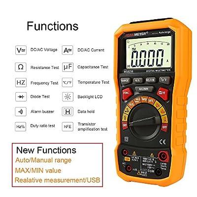 PEAKMETER MS8236 Digital Multimeter AC DC Volt Current Meter with Auto Power off, Temperature Test