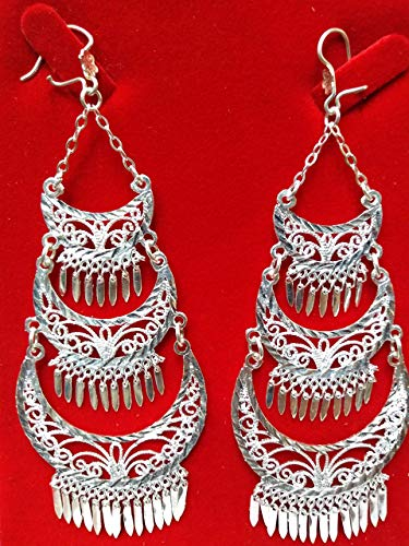 pendant filigree of silver law .925 hand knitted, of guelaguetza de oaxaca grams, 4.5