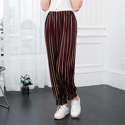 Pieghe Autunno Vita Pantalone Elastica Pantaloni Libero Moda Tempo nbsp; Donna Hipster Elegante Gelb Pantaloni Costume Monocromo Jogging Primaverile Femminile Lunga Pluderhose SZt8qZx