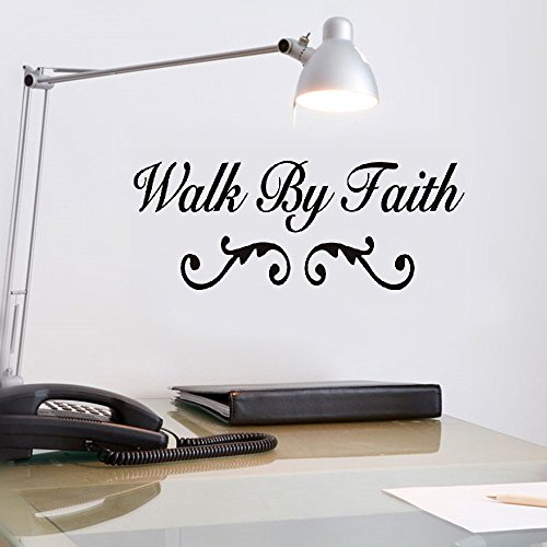 vlksjv wall stickers bedroom kids Walk by Faith bedroom home decor by vlksjv