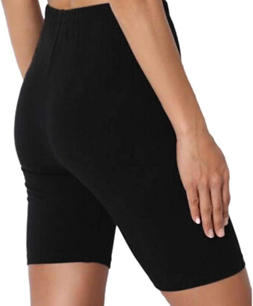 Womens Hot Pants Gym Yoga Shorts Cycle Dance Sports Fitness Stretch Leggings UK