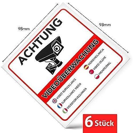 Pegatina de advertencia de videovigilancia prémium, letrero ...