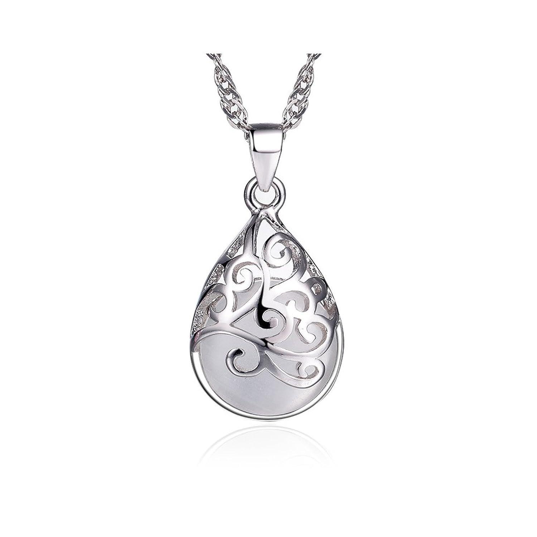 Collar de plata de ley Para mujer Con una caja by CJbrother