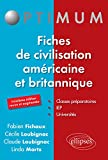 Fiches de Civilisation Américaine et Britannique