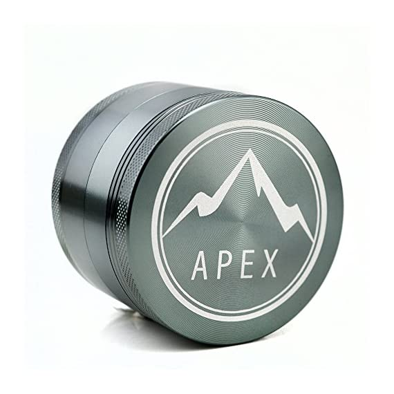Herb Grinder Apex Premium 4 Piece With Pollen Catcher 2.5 Inch 4 piece grinder Top Rated Herb Grinder Includes carrying case and pollen scraper (Champagne Platinum) 8 <p>GET THE MOST OUT OF YOUR HERBS, WITH THE UNIQUE ATTENTION GRABBING STYLE OF AN APEX PREMIUM-QUALITY HERB GRINDER TODAY FREE Shipping - Lifetime Warranty - Order Now Save Money by Conserving Your Herbs - Using the newest in CNC technology, our blades are the sharpest and most effective of any grinder ever made giving you a slower burning, longer lasting herbal experience. Pump Up the Potency - Our strong steel screens are perfect for collecting the finest pollen, and increasing the potency of your herbs. We even include a pollen scraper to maximize pollen collection. World's Smoothest Grinding Experience - The magnetic top and friction reducing ring to allow for the smoothest grinding experience possible. Built to Last a Lifetime - Apex grinders are made from the highest quality aircraft grade aluminum making them tougher, and more durable than other grinders. Lifetime Warranty and FREE Shipping - If for any reason you're unsatisfied with your Apex Premium-Quality Herb Grinder, you can send it back for a full refund. No questions asked.</p>