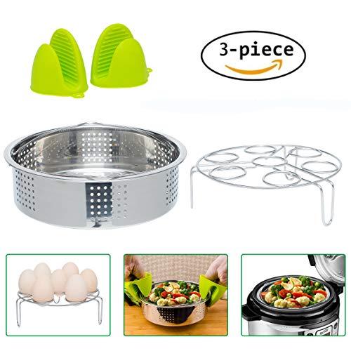 Instant Pot Accessories Steamer Basket and Egg Steamer Rack,